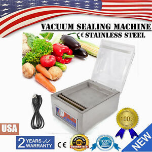 Commercial Vacuum Sealer System Food Sealing Machine Kitchen Storage Packing120w