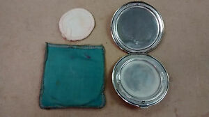 Vintage Birks Sterling Silver Compact Mirror Powder In Cloth Case 5