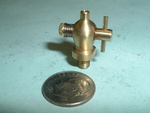 Mini Model Hit And Miss Gas Engine Brass Unspouted Drain Valve 10 32 Thread