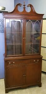 Travis Court Collection By Drexel Mahogany China Cabinet
