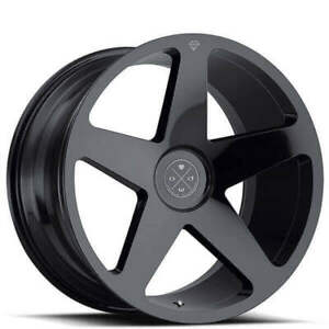 4 Set 20 Staggered Wheels And Tires Blaque Diamond Bd 15 Gloss Black