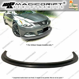 For 10 13 Nissan Altima 2dr Coupe Mda Style Front Bumper Lip Spoiler Kit Jdm