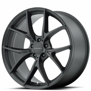 4 set 20 Staggered Kmc Km694 Wishbone Black Wheels And Tires