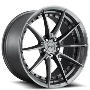 4 Set 19 Staggered Niche M197 Sector Gloss Anthracite Wheels And Tires