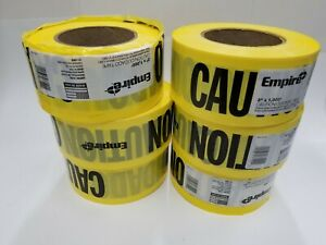 6 Rolls 1000 Ft Boundary Caution Tape Worksite Safe Barrier Yellow Warning