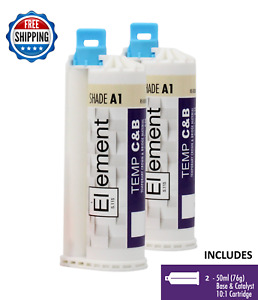 2 Element Temporary Crown And Bridge Material Cartridges Dental Shade A1