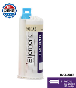 Element Temporary Crown And Bridge Material Cartridge 50ml 76g Dental Shade A3