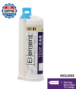 Element Temporary Crown And Bridge Material Cartridge 50ml 76g Dental Shade B1