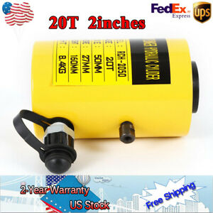 20t 44000lbs 2inch Manual Oil Pump Hydraulic Cylinder Jack For Frame Shops