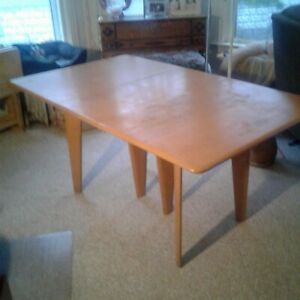 Beautiful Vintage Heywood Wakefield Dropleaf Dining Table Mid Century Modern
