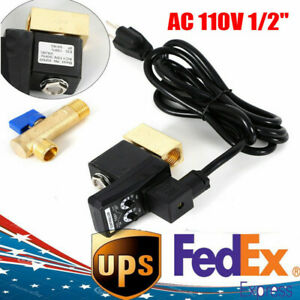 Electronic Timed Drain Valve For Air Compressor Water Tank 110v 1 2 W Us Plug