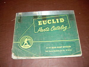 Euclid Volvo 63td B Series R2 Tractor Truck Hauler Parts Catalog Manual