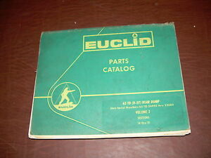 Euclid Volvo 65 Td R 27 Tractor Truck Hauler Parts Catalog Manual