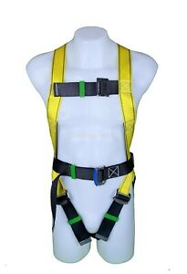 Fall Protection Safety Harness Four Adjustable Points With 6 Ft Lanyard