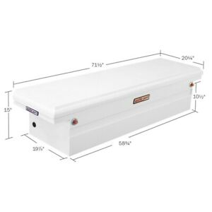 Weatherguard Gloss White Single Lid Steel Crossover Full Size Truck Tool Box
