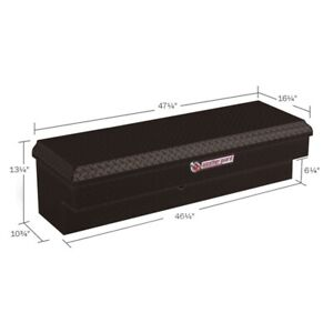Weatherguard Gloss Black Low Side Full Size Truck Tool Box Aluminum Short 184