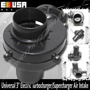 Universal 3 Electric Turbocharger Air Intake For Car Motorcycler Truck Atv Rv