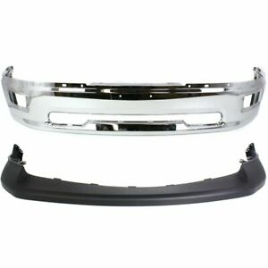 Front Bumper Cover Kit For 2009 2010 Dodge Ram 1500 2 Piece Type W Chrome Bumper