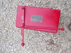 Farmall C Sc Tractor Ih Tool Box Mounting Seat Base Serial Tag Pto Engagement