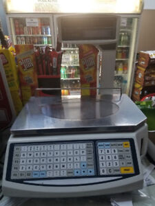 Easy Weigh Ls 100 Label Printing Scale With Pole And Thermal Paper Used