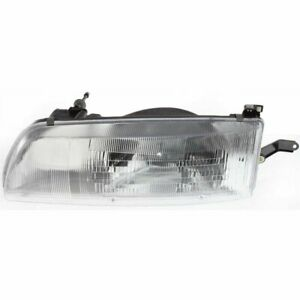 Headlight For 91 93 Toyota Previa Left With Bulb Clear Lens Halogen Composite
