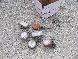 5 Farmall Ih Ford Jd Massey Tractor Front Rear Head Light Lights Bracket Flasher