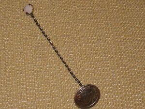 Vintage Sterling Silver Collector S Spoon 1956 Australia Shilling With Opal