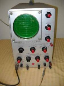Vintage Heathkit Professional Oscilloscope Model Op 1 Powers Up