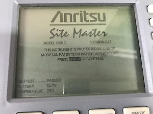 Anritsu S331c Sitemaster Cable Antenna Analyzer