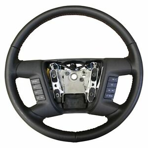 Fusion Steering Wheel Black Leather Oem Radio Navigation Cruise New Old Stock