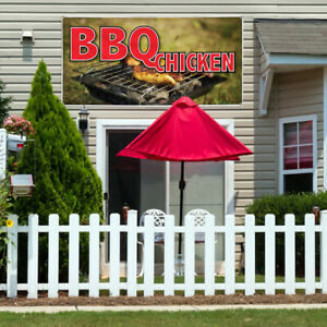 Vinyl Banner Sign Bbq Chicken Restaurant Cafe Bar Marketing Advertising Brown