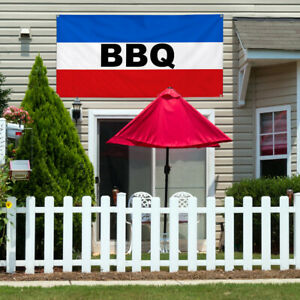 Vinyl Banner Sign Bbq Restaurant Food Bbq Outdoor Marketing Advertising Black