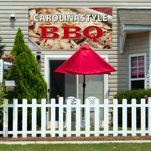Vinyl Banner Sign Carolina Style Bbq Restaurant Cafe Bar Marketing Advertising