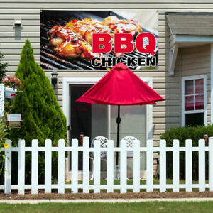 Vinyl Banner Sign Bbq Chicken 1 Style B Outdoor Marketing Advertising Black