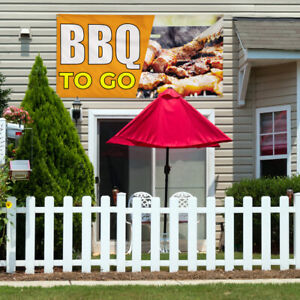Vinyl Banner Sign Bbq To Go Restaurant Food Marketing Advertising Yellow
