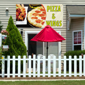 Vinyl Banner Sign Pizza Wings 5 Pizza Wings Marketing Advertising Yellow