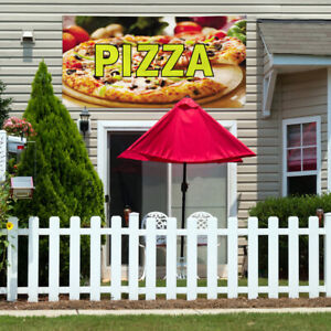 Vinyl Banner Sign Pizza 1 Style J Pizza Outdoor Marketing Advertising Yellow