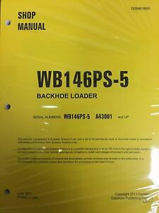 Komatsu Wb146ps 5 Backhoe Loader Shop Manual Repair Loader A43001 And Up Serial