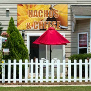 Vinyl Banner Sign Nachos Cheese 1 Style A Marketing Advertising Yellow