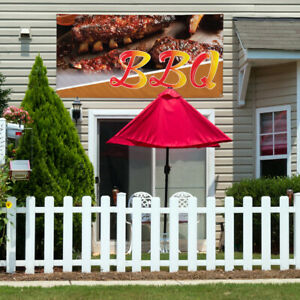 Vinyl Banner Sign Bbq 1 Style A Restaurant Food Marketing Advertising Red