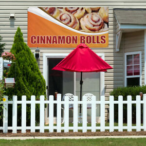 Vinyl Banner Sign Cinnamon Rolls 1 Outdoor Marketing Advertising Orange
