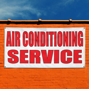 Vinyl Banner Sign Air Conditioning Service Shop Car Style U Business White