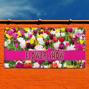 Vinyl Banner Sign Flower Show Business Outdoor Marketing Advertising Lavender
