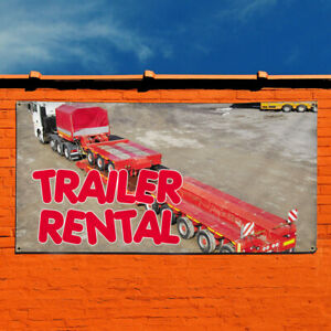 Vinyl Banner Sign Trailer Rental Business Outdoor Marketing Advertising Grey