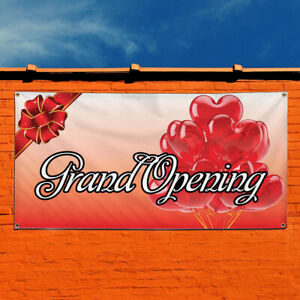 Vinyl Banner Sign Grand Opening Business Style R Marketing Advertising Red