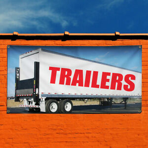 Vinyl Banner Sign Trailers Business Trailers Marketing Advertising White