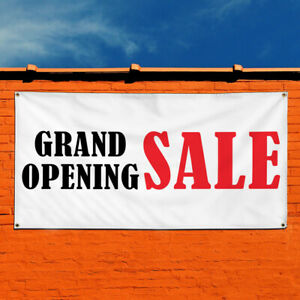 Vinyl Banner Sign Grand Opening Sale Business Style U Marketing Advertising Red