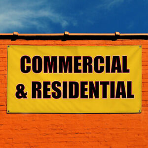 Vinyl Banner Sign Commercial Residential Outdoor Marketing Advertising Yellow
