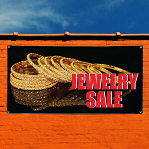 Vinyl Banner Sign Jewelry Sale Business Style R Marketing Advertising Golden