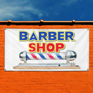Vinyl Banner Sign Barber Shop Business Style A Marketing Advertising White